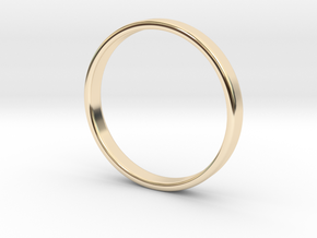 Ring for Ed - Size 12 (3mm wide, 1.2mm thick) in 14K Gold