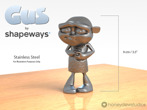 Gus Figurine - Medium - Metal in Polished Bronzed Silver Steel
