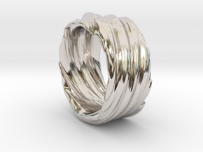 Twisted No.2 in Rhodium Plated Brass