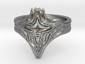 Calamity Ring in Natural Silver: 8.5 / 58