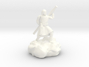 Hooded Halfling Ninja With Staff in White Processed Versatile Plastic