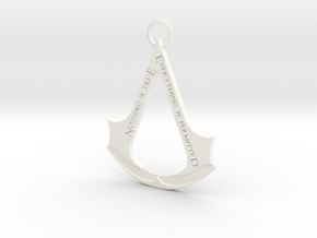 Assassin's creed logo-bottle opener (with ring) in White Processed Versatile Plastic