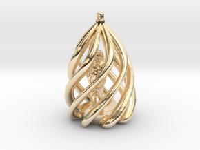 Swirl Ornament in 14k Gold Plated Brass