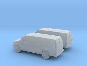 1/160 2X 2002-07 Ford E-Series Van in Smooth Fine Detail Plastic