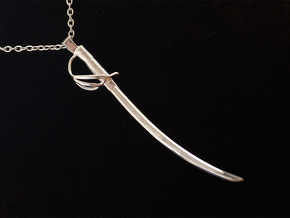 The Lieutenant - US Cavalry Saber Pendant in Polished Silver