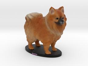 Custom Dog Figurine - Rusty in Full Color Sandstone