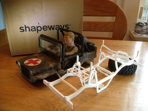 Wild Willy chassis for losi mrc/Vatera slick rock in White Natural Versatile Plastic