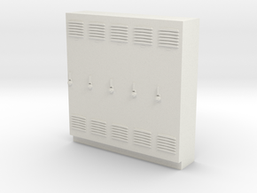 O Scale Lockers in White Natural Versatile Plastic