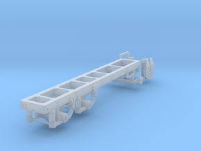 "1/87th Tandem truck frame, 175"" Wheelbase in Smooth Fine Detail Plastic"