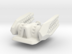 Turbo Laser Turret (Top) in White Natural Versatile Plastic