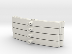 Leaf Spring 11L 4 piece set in White Strong & Flexible