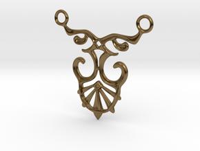 Art Deco Pendant #1 in Polished Bronze
