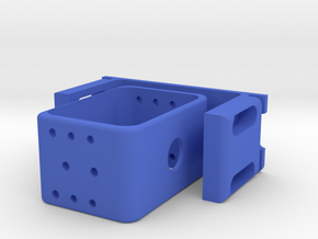 Floating Shield Mount For Printing in Blue Strong & Flexible Polished