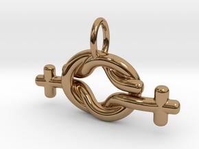 LESBIAN LOVE in Polished Brass