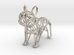 French Bulldog Bottle Opener Keychain in Rhodium Plated Brass