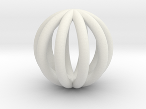 BALL5 in White Natural Versatile Plastic