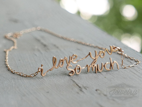 """i love you so much"" Pendant in Raw Bronze"