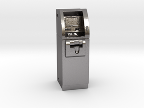 SlimCash 200 ATM, Dollhouse 1:24 Scale in Polished Nickel Steel
