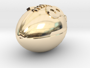 Pendant Football #18  in 14k Gold Plated Brass