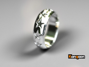 Eugen - Ring - US 9 - 19 mm inside diameter in Polished Silver