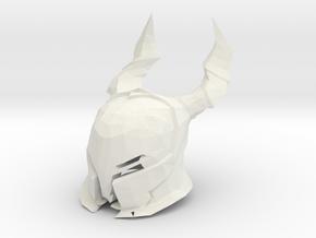 Horn Knight Helmet  Dark Souls for LEGO in White Natural Versatile Plastic