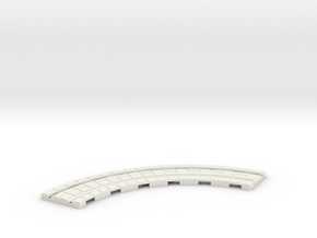 P-165stg-long-curve-100r-100-1a in White Natural Versatile Plastic