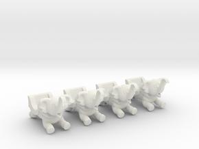 Sellner Larson Elephants in White Natural Versatile Plastic