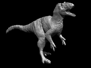 Yutyrannus 1:72 scale model in White Strong & Flexible