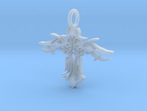Pendant Tribal Cross Design 02 Model 03 - MCDStudi in Smooth Fine Detail Plastic