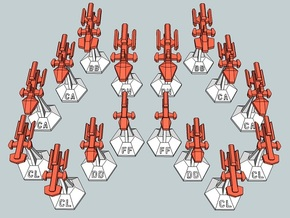 MicroFleet Kzouti  Heavy Battlegroup (16 Pcs) in Frosted Ultra Detail