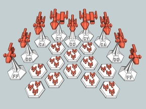 MicroFleet Kzouti Carrier Group (21 Pcs) in Frosted Ultra Detail