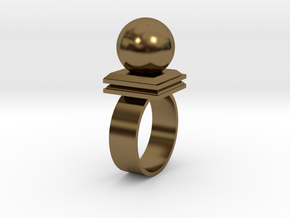 Ballin' Ring in Polished Bronze