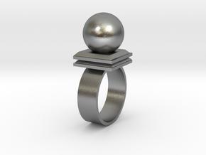 Ballin' Ring in Natural Silver