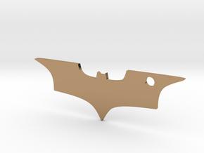 Batman logo keychain in Polished Brass