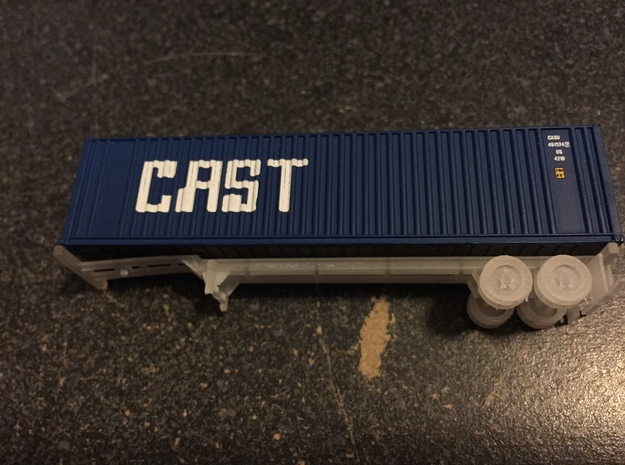 N 40' Container Chassis in Smooth Fine Detail Plastic