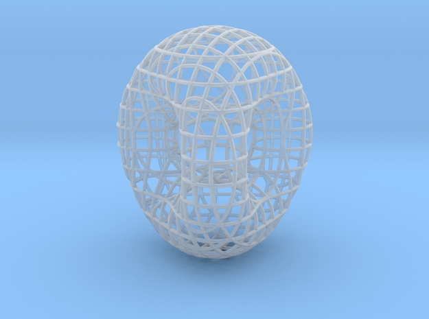 Double Torus in Smooth Fine Detail Plastic