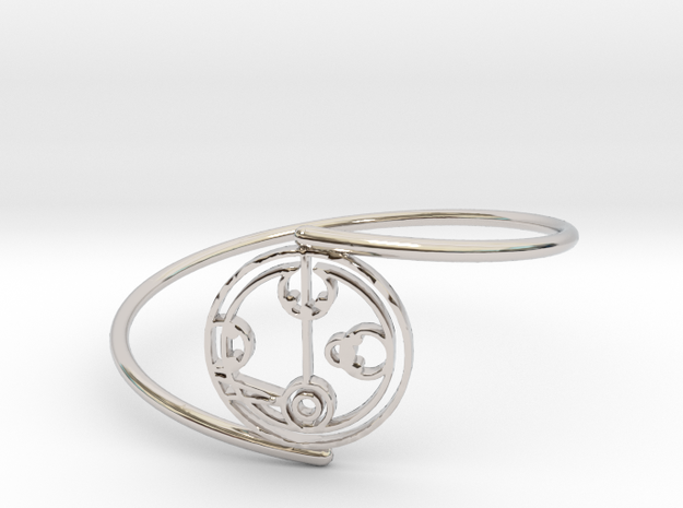 Melody - Bracelet Thin Spiral in Rhodium Plated Brass