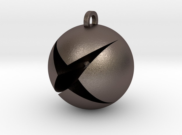 XBox Pendant in Polished Bronzed Silver Steel