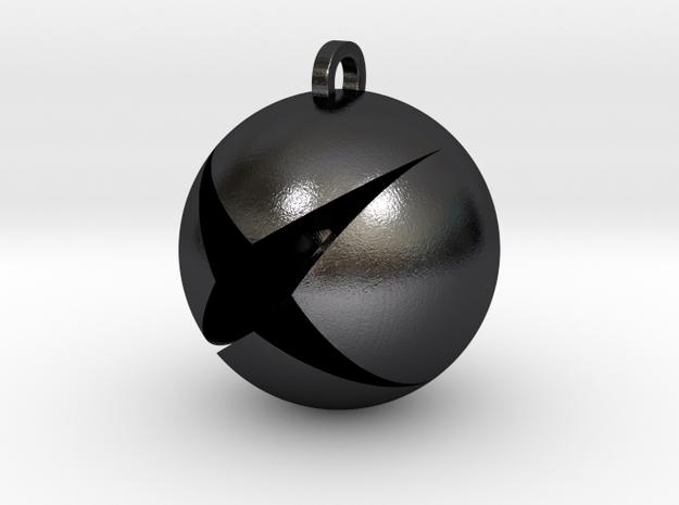 XBox Pendant in Polished Grey Steel