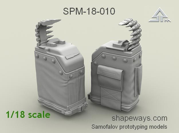 1/18 SPM-18-010 LBT MK48 Box Mag in Frosted Extreme Detail