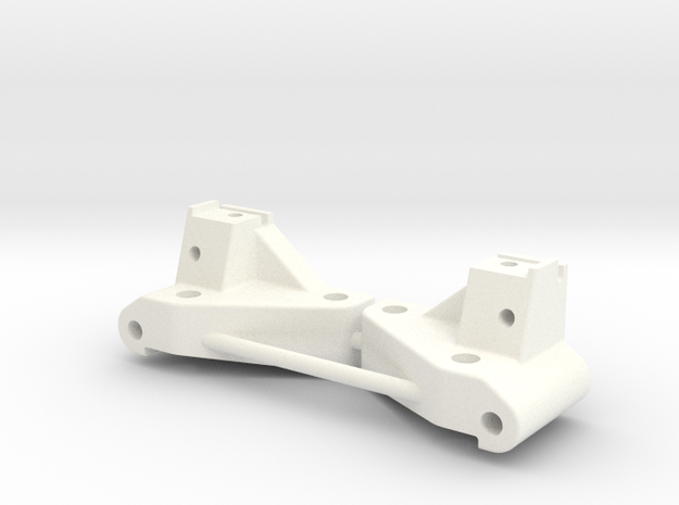 NIX62082 HD Front Arm Mounts (20deg.) in White Processed Versatile Plastic