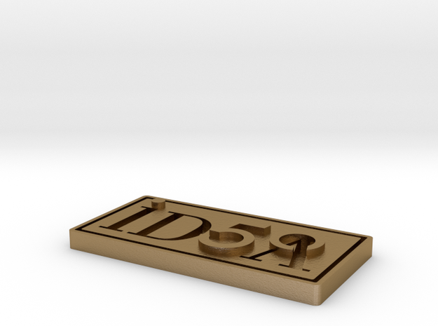 IDSA Pin_2015 07 01 in Polished Gold Steel