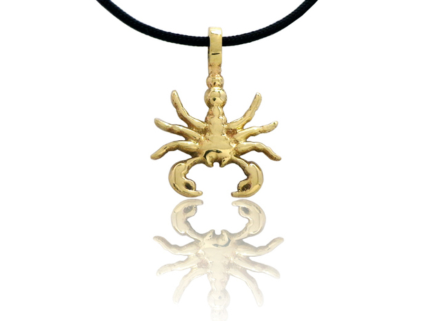 SCORPION TOTEM Zodiac Pendant Jewelry Symbol in Polished Brass