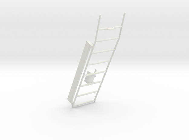 05-Ladder in White Natural Versatile Plastic