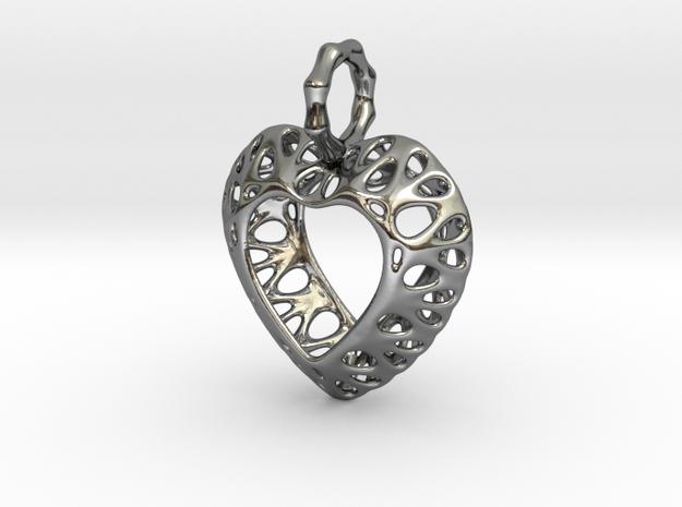 Pendant Heart Be Still True Pendant 02 - MCDStudio in Premium Silver