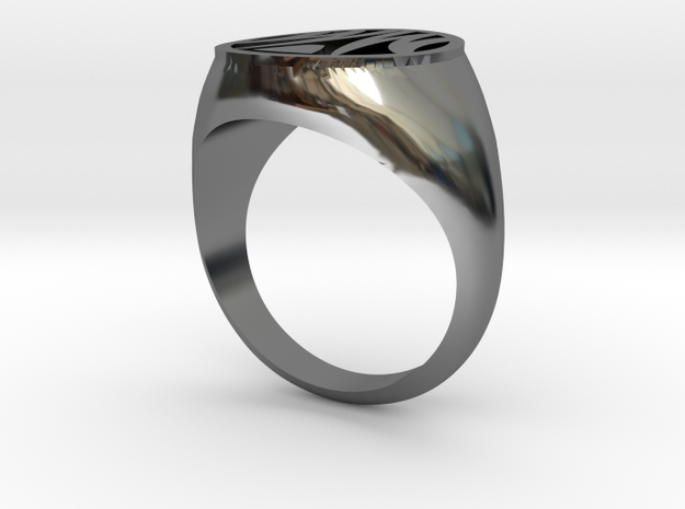 Misfit Ring Size 8 in Fine Detail Polished Silver