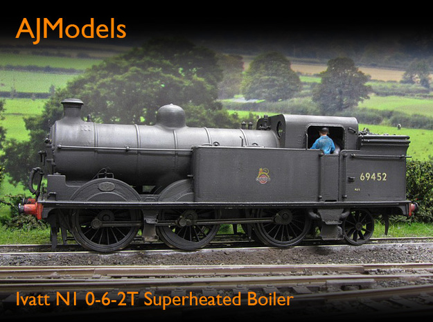 AJModels P02 Ivatt N1 Superheated Boiler, BR-era in Frosted Ultra Detail