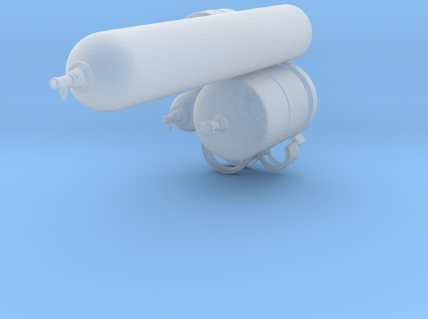 gas cylinders in 1:32 in Frosted Ultra Detail