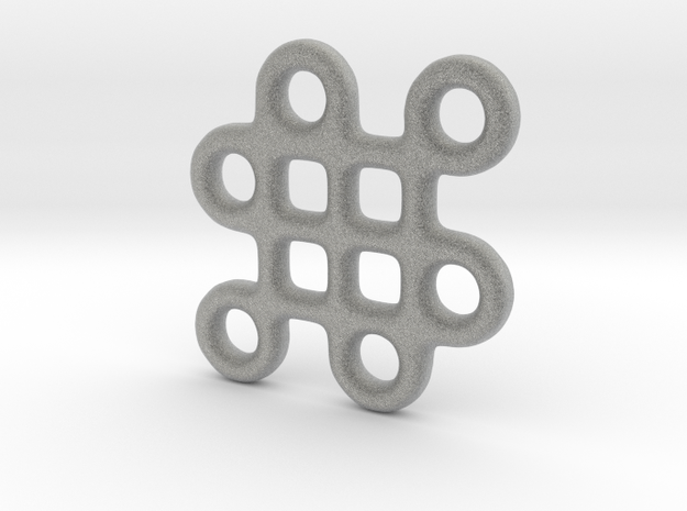 Mystic Knot Earring (one) 3d printed