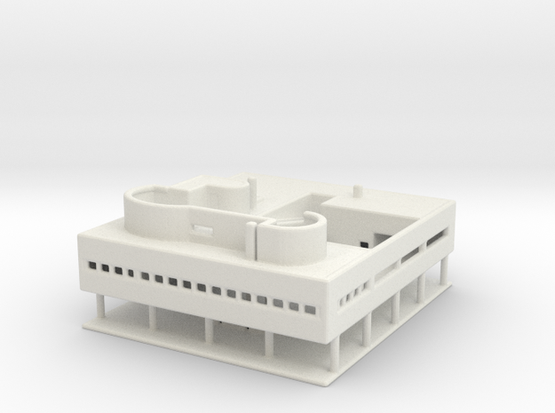 Villa Savoye Medium in White Strong & Flexible
